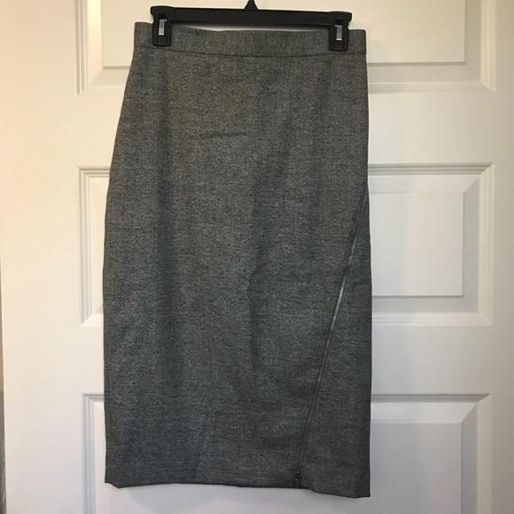 Banana Republic Dresses & Skirts - Banana Republic grey zippered pencil skirt